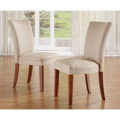 Inexpensive Upholstered Dining Chairs Wicker Baby Shower Chair Dorel Home Tufted Parsons Set Of 2 Espresso