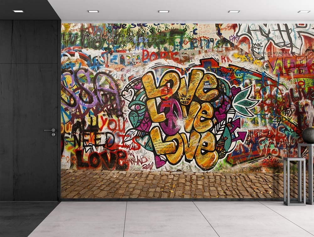 Wall26 Colorful Graffiti Large Wall Mural Removable