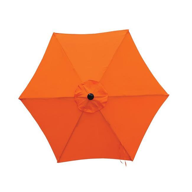living accents market 7 5 ft tiltable orange patio umbrella walmart com