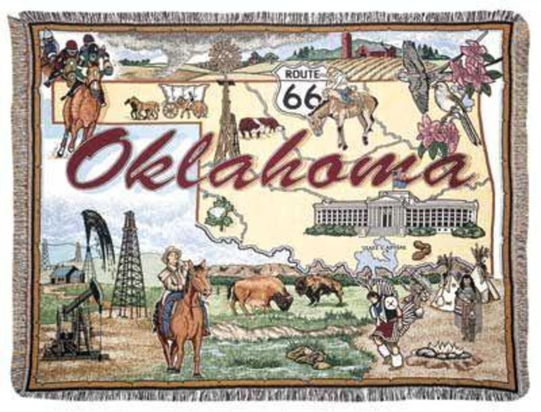 State of Oklahoma Tapestry Throw Blanket 50 x 60 Walmartcom