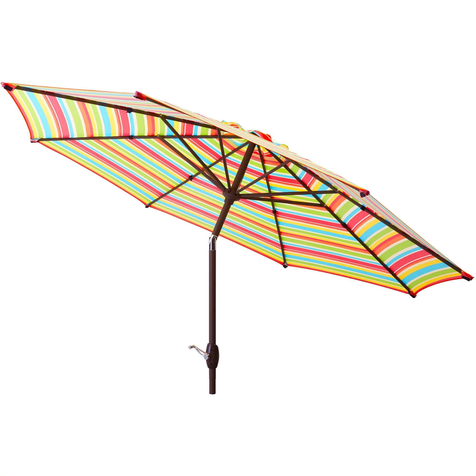 Patio Umbrella 9' Aluminum Patio Market Umbrella Tilt W