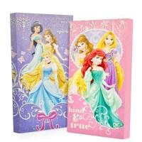 Disney Princess Glow in the Dark 2-Pack Canvas Wall Art ...
