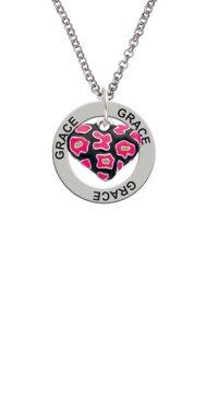 Delight Jewelry - Hot Pink Cheetah Print Heart Grace ...