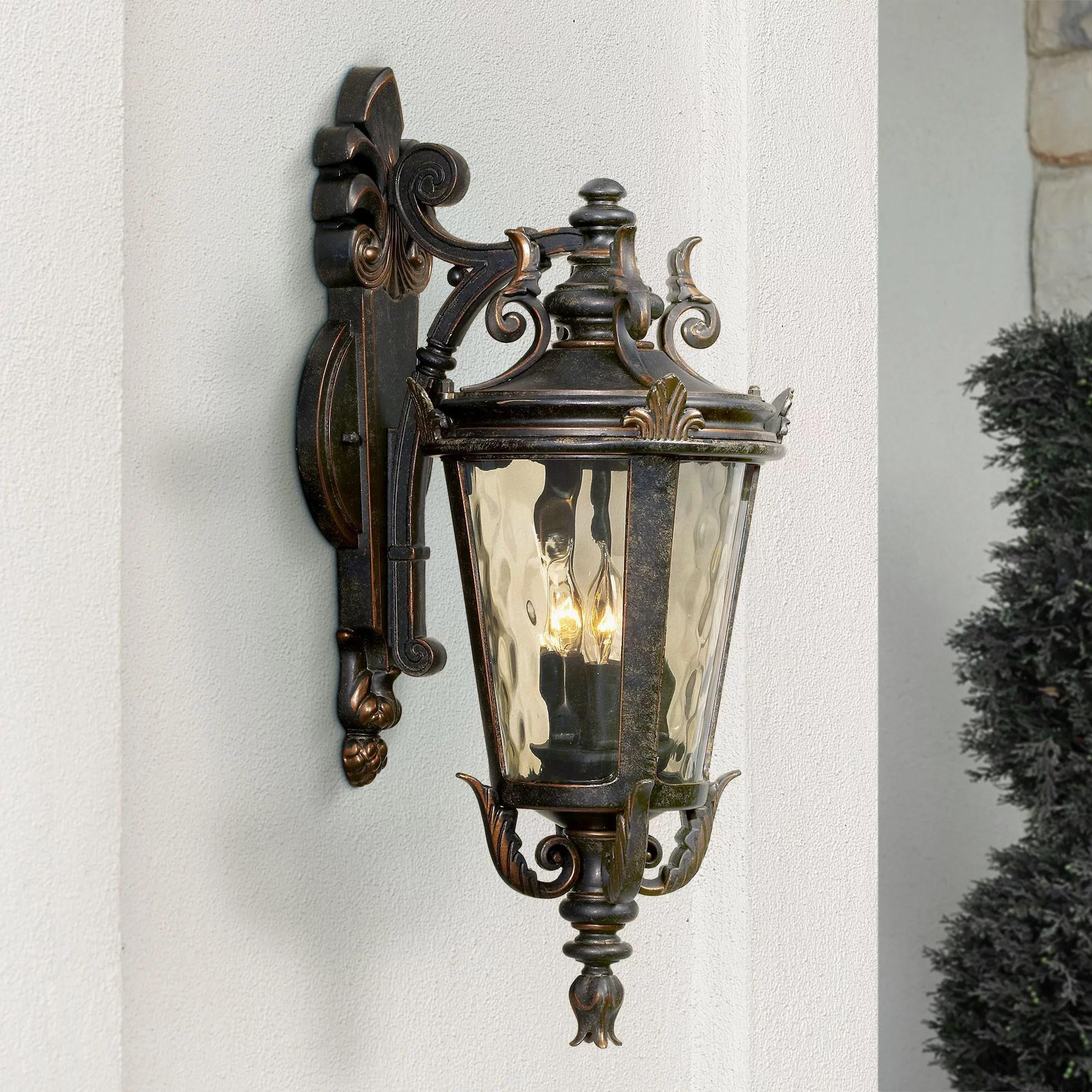 john timberland casa marseille 21 3 4 high bronze outdoor wall light walmart com