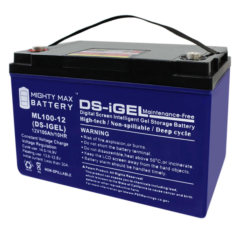 12v 100ah gel battery replaces sol transit shelter ad solar lighting