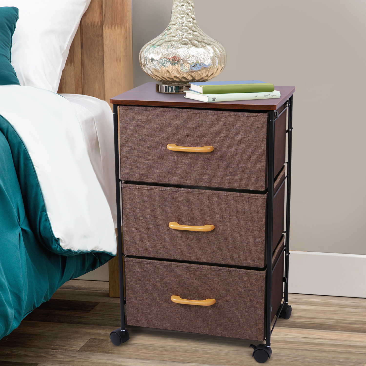 Lifewit Nightstand 3 Drawers Bedside End Table Organizer