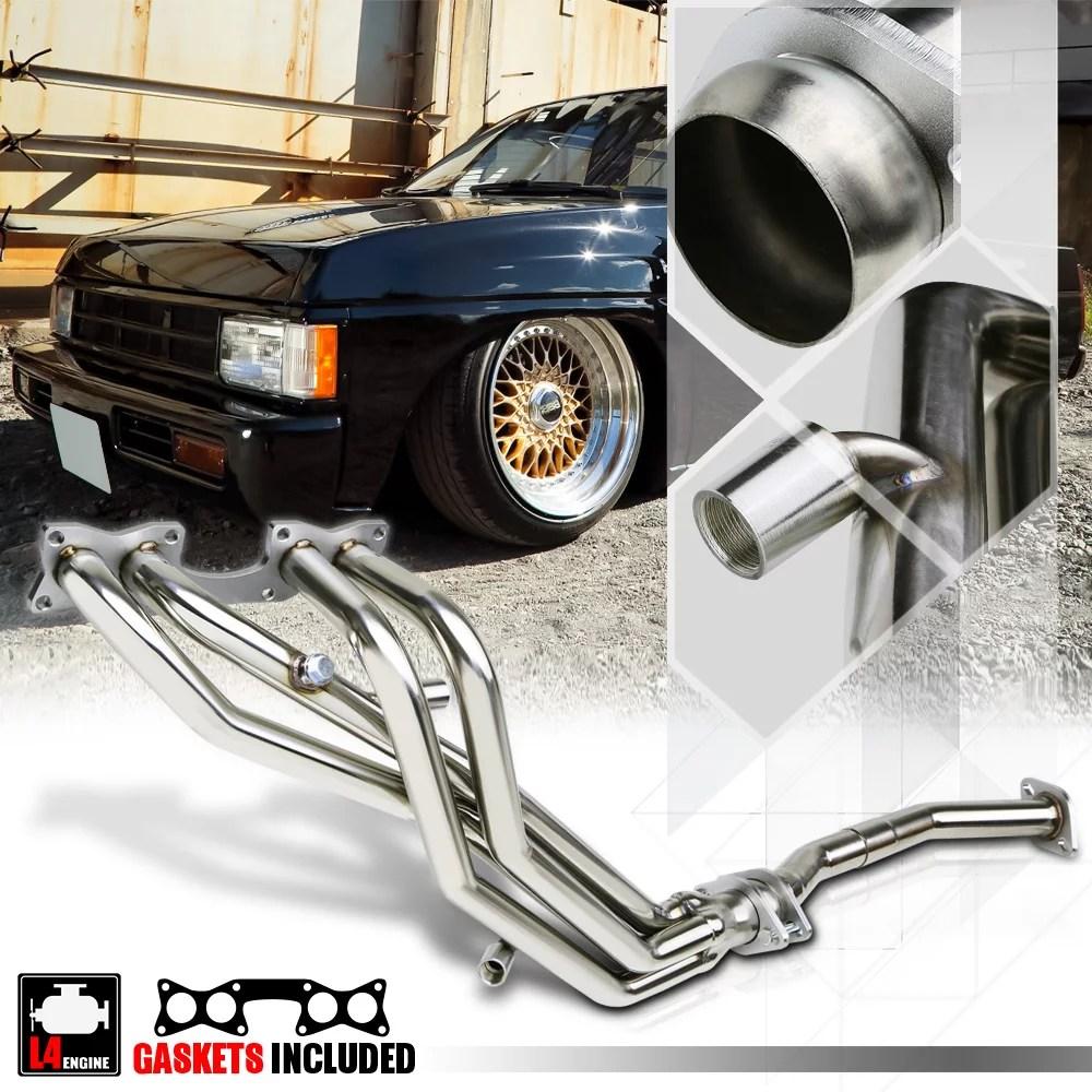 medium resolution of stainless steel exhaust header manifold for 90 97 nissan hardbody d21 pickup 2 4 91 92 93 94 walmart com
