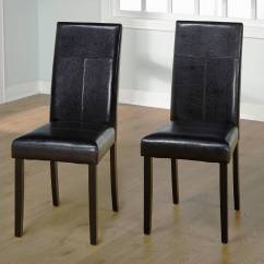 Leather Dining Chairs Revolving Chair Parts Hyderabad Faux Parson Set Of 2 Walmart Com
