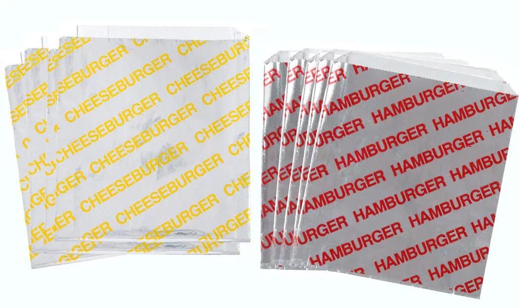 printed foil cheeseburger and