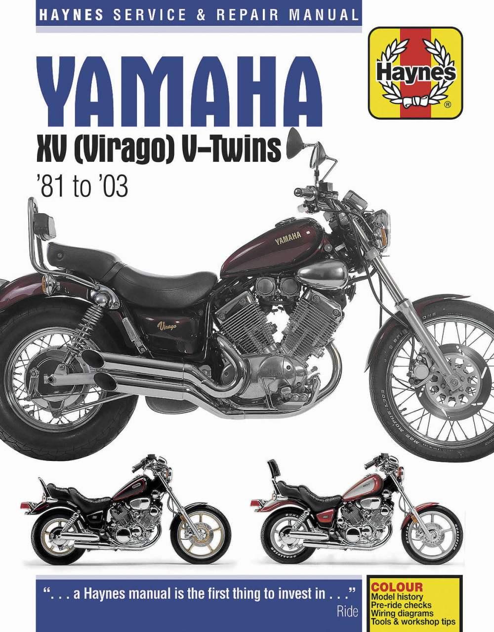medium resolution of haynes manuals n amanual yam xv virago 81 00 m802 new
