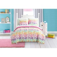 Mainstays Kids Spotty Rainbow Bed in a Bag Bedding Set ...