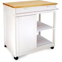 Preston Hollow Kitchen Cart, White - Walmart.com
