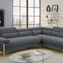 Sofa Stores Edinburgh Lazy Boy Leather Recliners 2 Piece Sectional In Charcoal Glossy Polyfiber Walmart Com