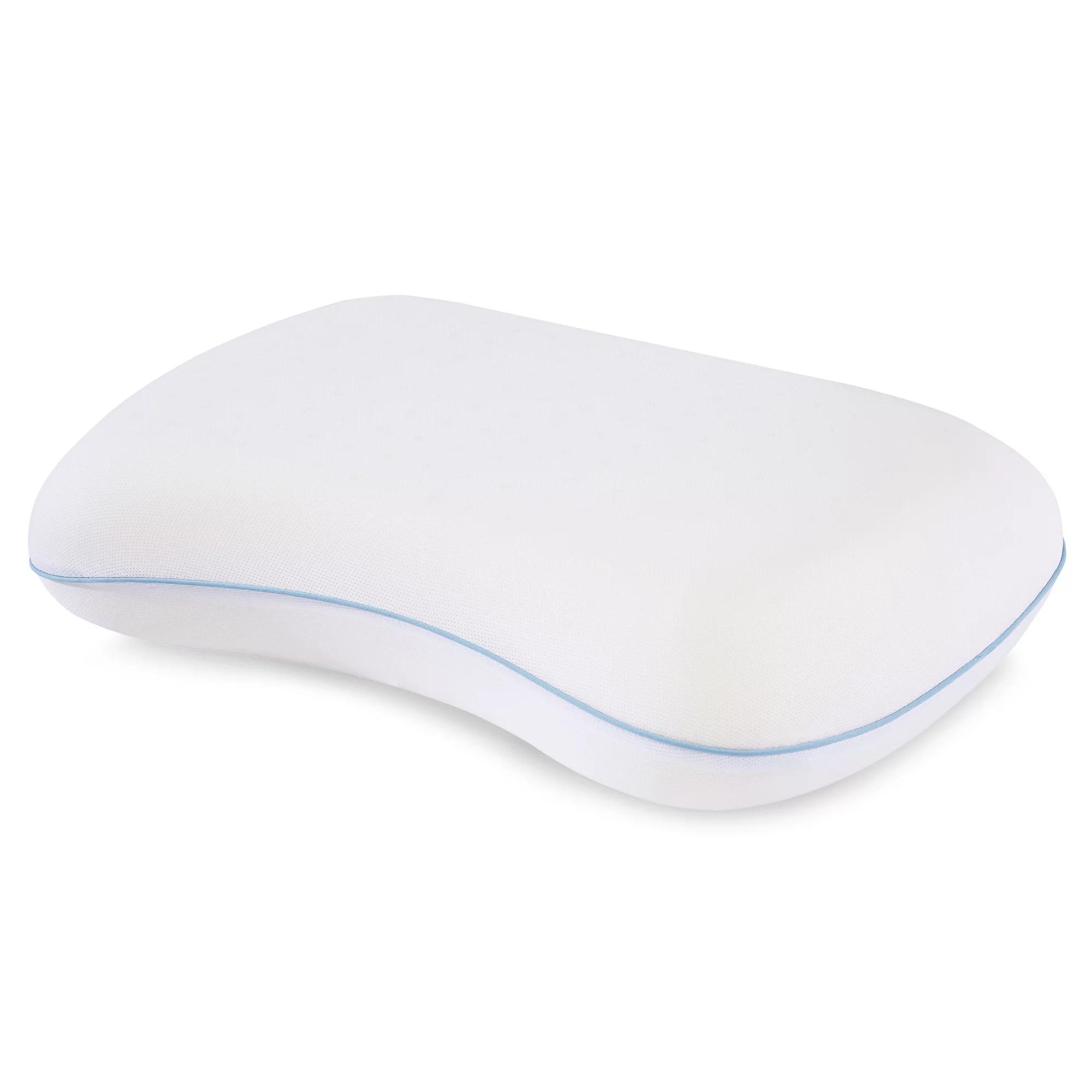 dream serenity ergo shape comfort memory foam pillow 1 each walmart com