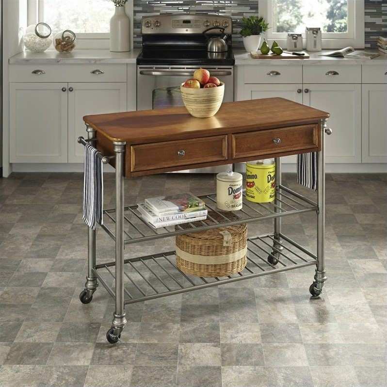 home styles kitchen cart settee for orleans