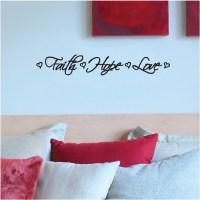 Faith Hope Love Wall Decal - Walmart.com