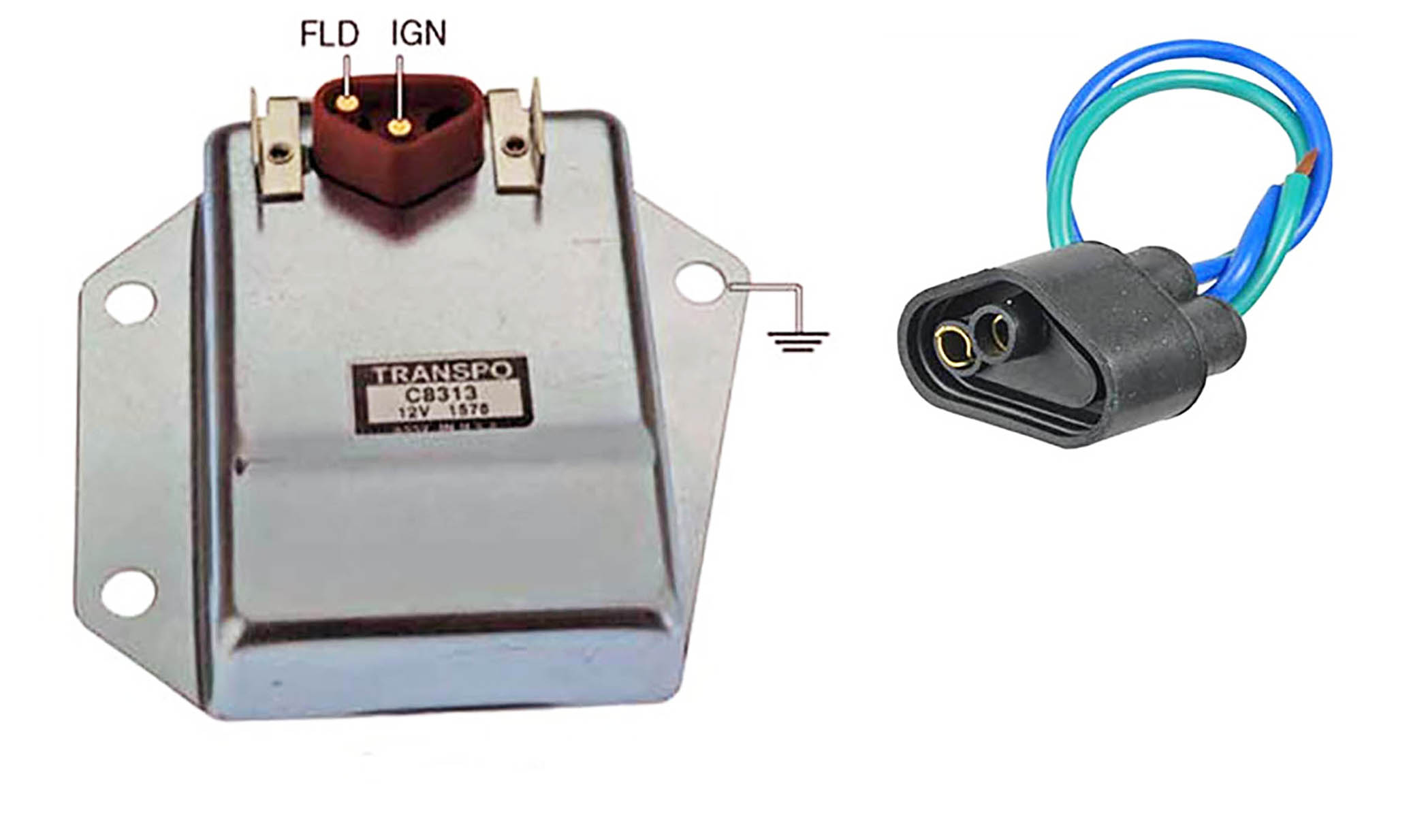 hd external voltage regulator kit with harness chrysler dodge chrysler external voltage regulator wiring [ 2072 x 1234 Pixel ]
