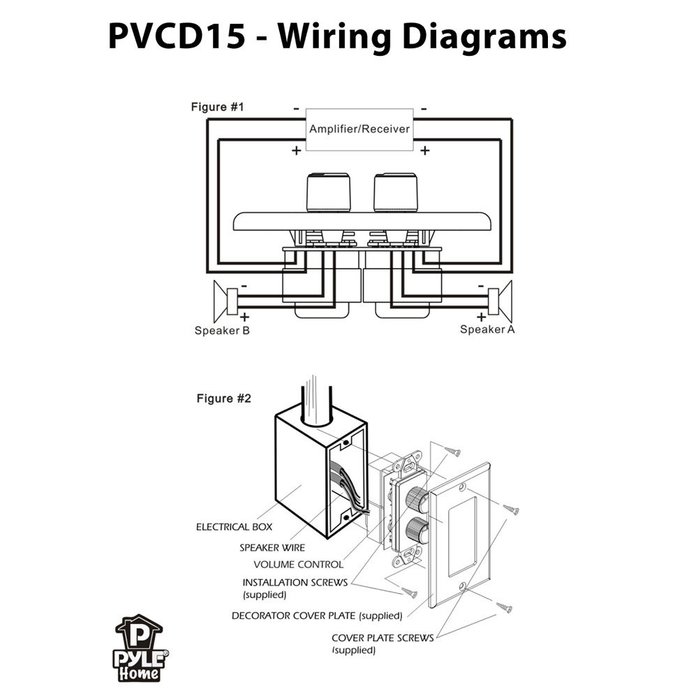 medium resolution of sound around pyle industries pvcd15 in wall two speaker dual knob independent volume control