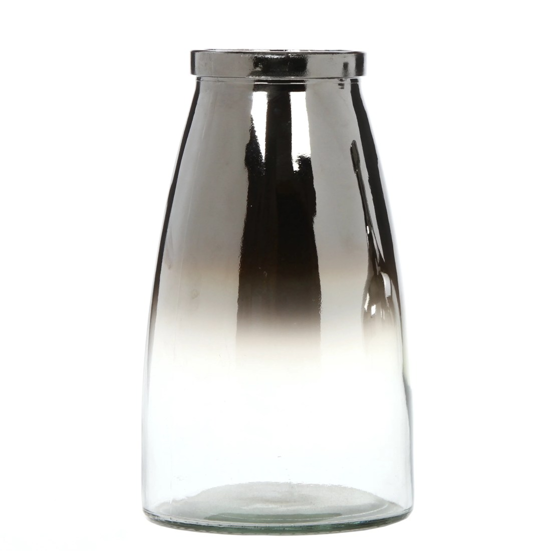 """Elegant Expressions by Hosley 10"""" H Ombre Silver Glass Vase, 1 Each"""