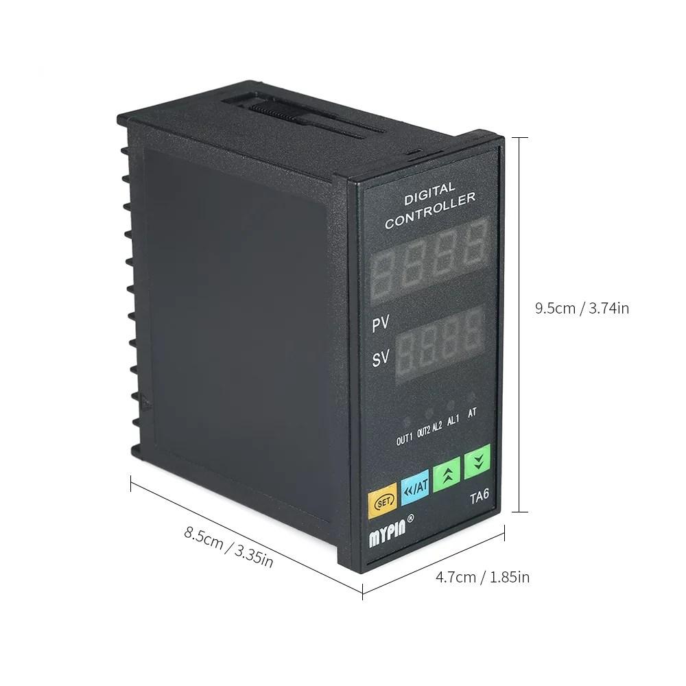 medium resolution of automatic digital led pid temperature controller thermometer rnr 1 alarm relay output tc rtd walmart canada
