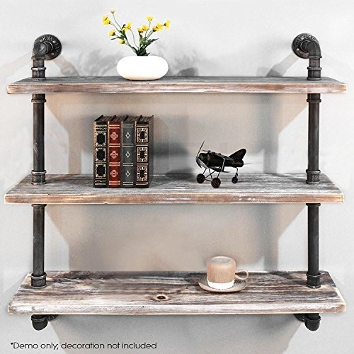 Diwhy Shelves Industrial Shelf With Pipe Diy Retro Wall
