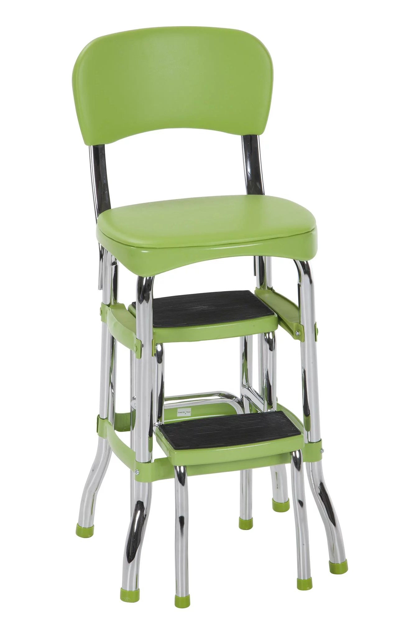 kitchen step stool with seat design cheap new cosco green retro counter chair folding