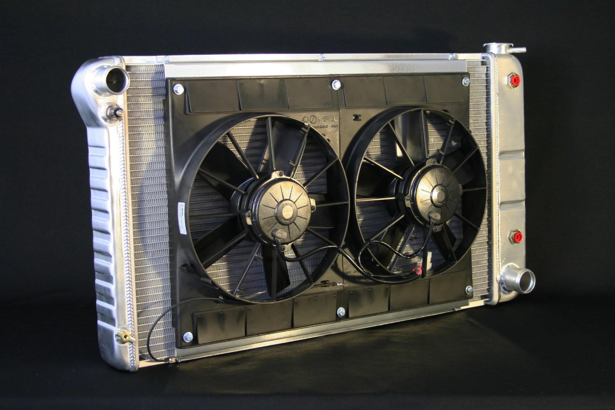 hight resolution of dewitts 1968 72 chevelle sb bb cf auto dual 11 spal fans wiring radiator walmart com