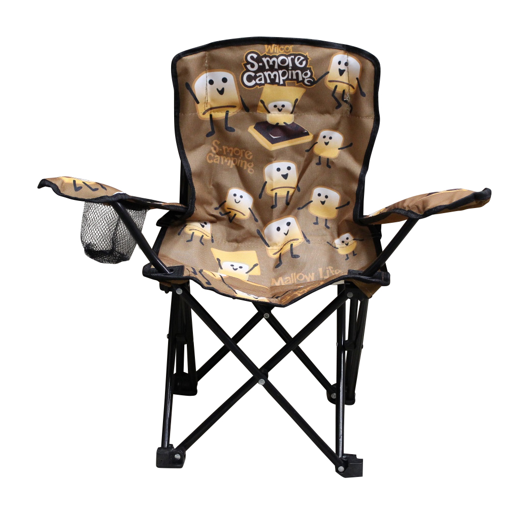 kids folding camp chair antique slipper uk wilcor with cup holder and carry bag smore walmart com