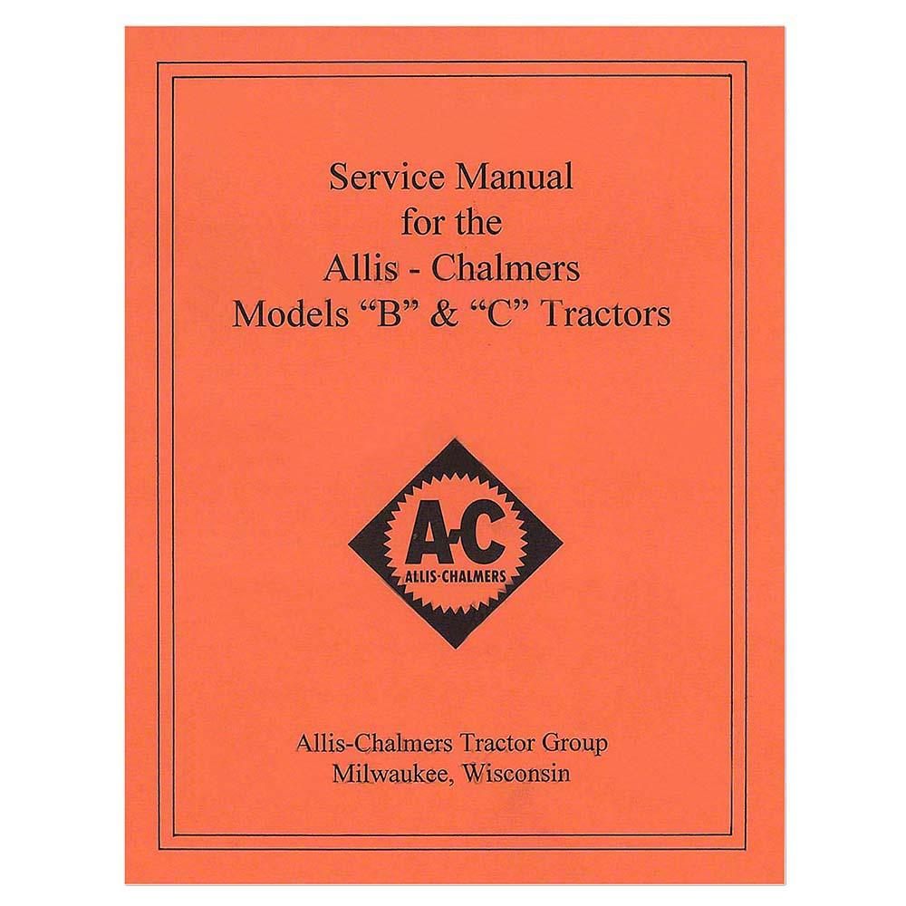 medium resolution of rep036 new tractor service manual w wiring diagram for allis allis chalmers model c tractor wiring diagram