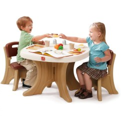 Toddler Table Chairs Car Chair Covers Walmart Step2 New Traditions Kids And 2 Set Brown Com