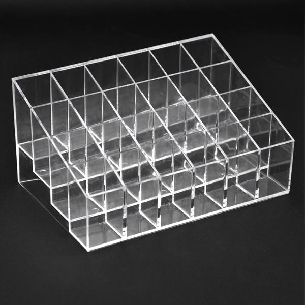 Yaheetech 24 Clear Acrylic Lipstick Holder Display Stand