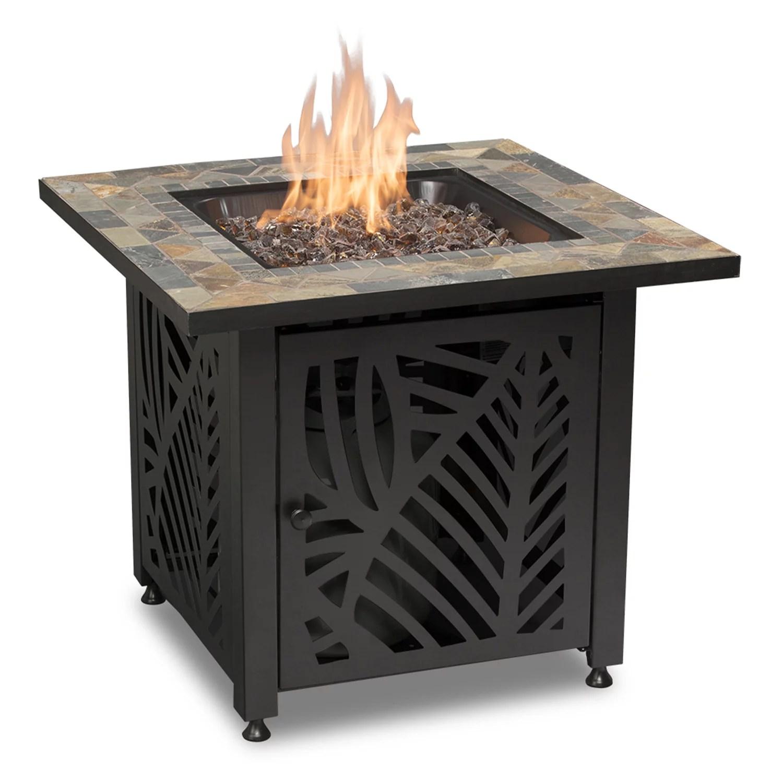 endless summer gad15258sp decorative slate tile mantel lp gas outdoor fire pit