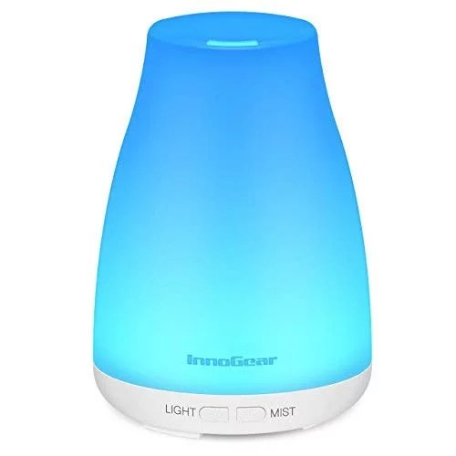 InnoGear Upgraded Version Aromatherapy Essential Oil Diffuser Portable Ultrasonic Diffusers Cool Mist Humidifier with 7 Colors LED Lights and Waterless Auto Shut-off for Home Office Bedroom Room