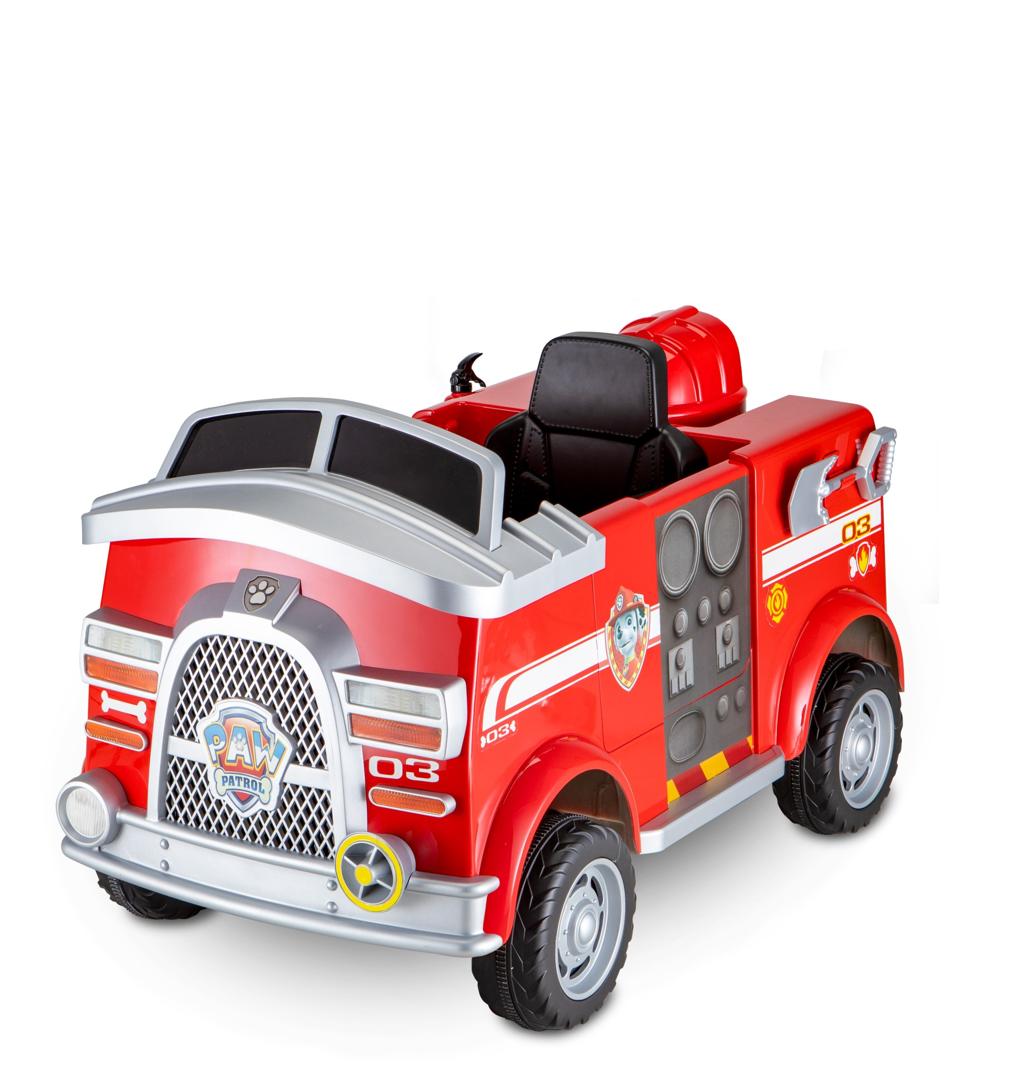 hight resolution of paw patrol fire truck 6 volt powered ride on toy by kid trax marshall rescue walmart com