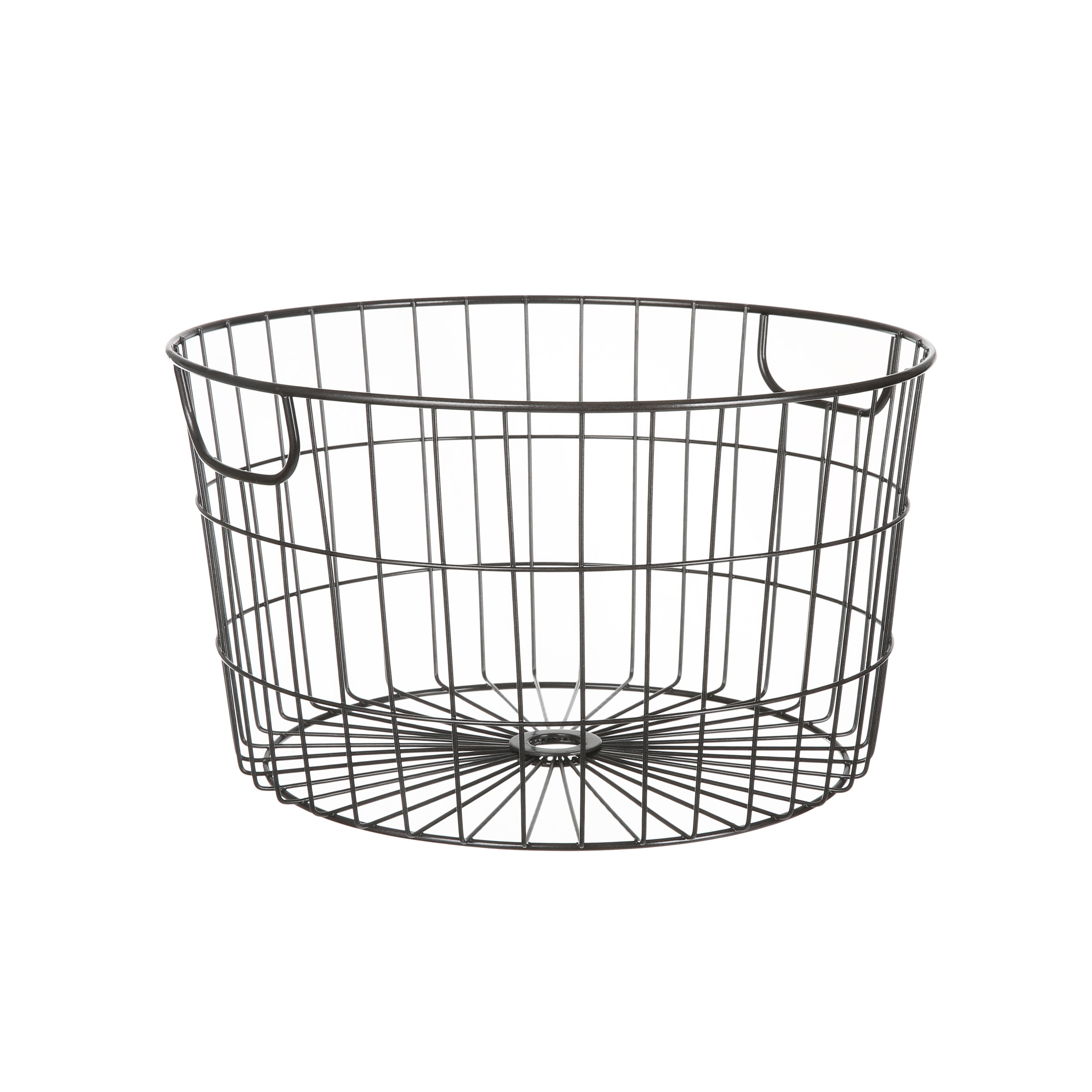 Mainstays Round Wire Basket Rustic Black