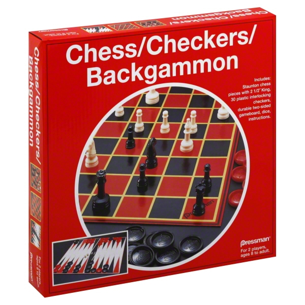 Chess Checkers Backgammon Board Games By Pressman
