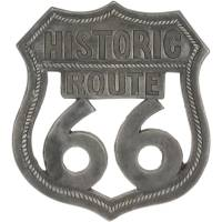 Pewter Route 66 Aluminum Wall Art - Walmart.com