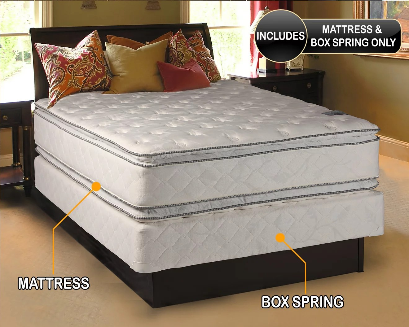 dream solutions soft pillow top 12 twin mattress and box spring set