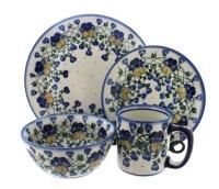 Polish Pottery Pansies 16 Piece Dinner Set - Walmart.com