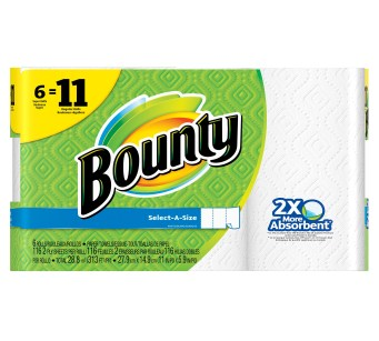 Bounty Paper Towels, Select-A-Size, White, 6 Super Rolls