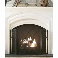Pleasant Hearth Gothic Fireplace Screen, Black - Walmart.com