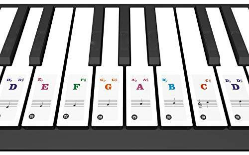 piano key stickers for
