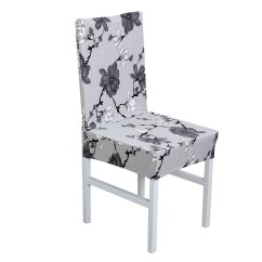 Black Chair Covers Walmart Lift Recliner Chairs Piccocasa Elastic Polyester Dining Room Short Com