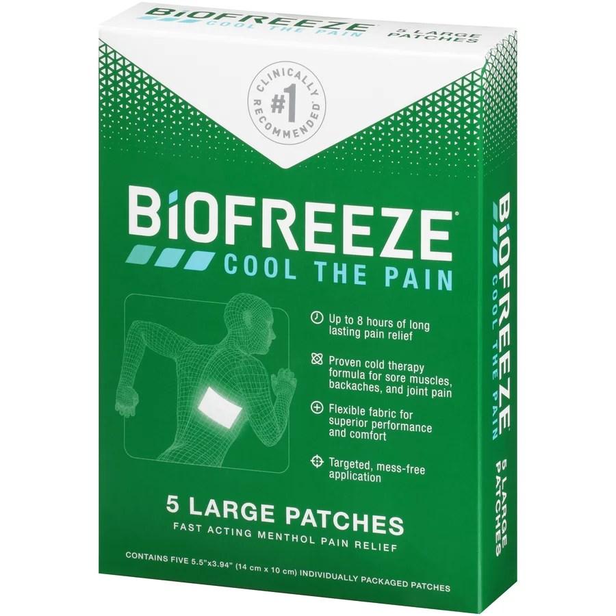 Biofreeze Patch 5pc - Walmart.com