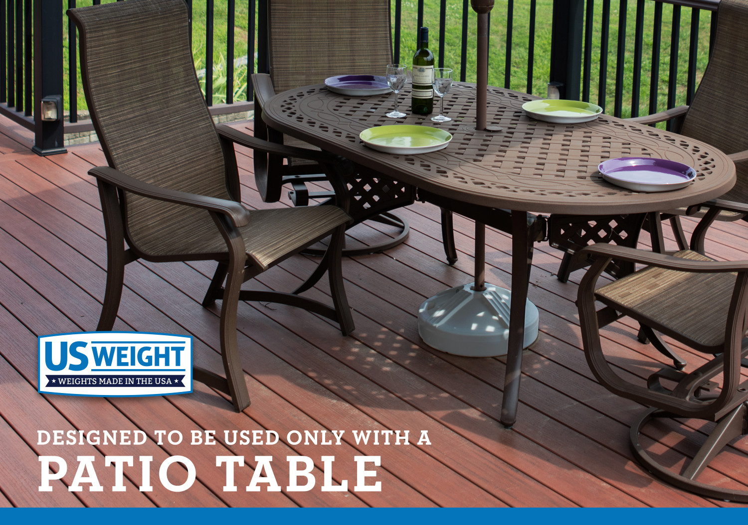 us weight fillable 50 pound umbrella base designed to be used with a patio table black