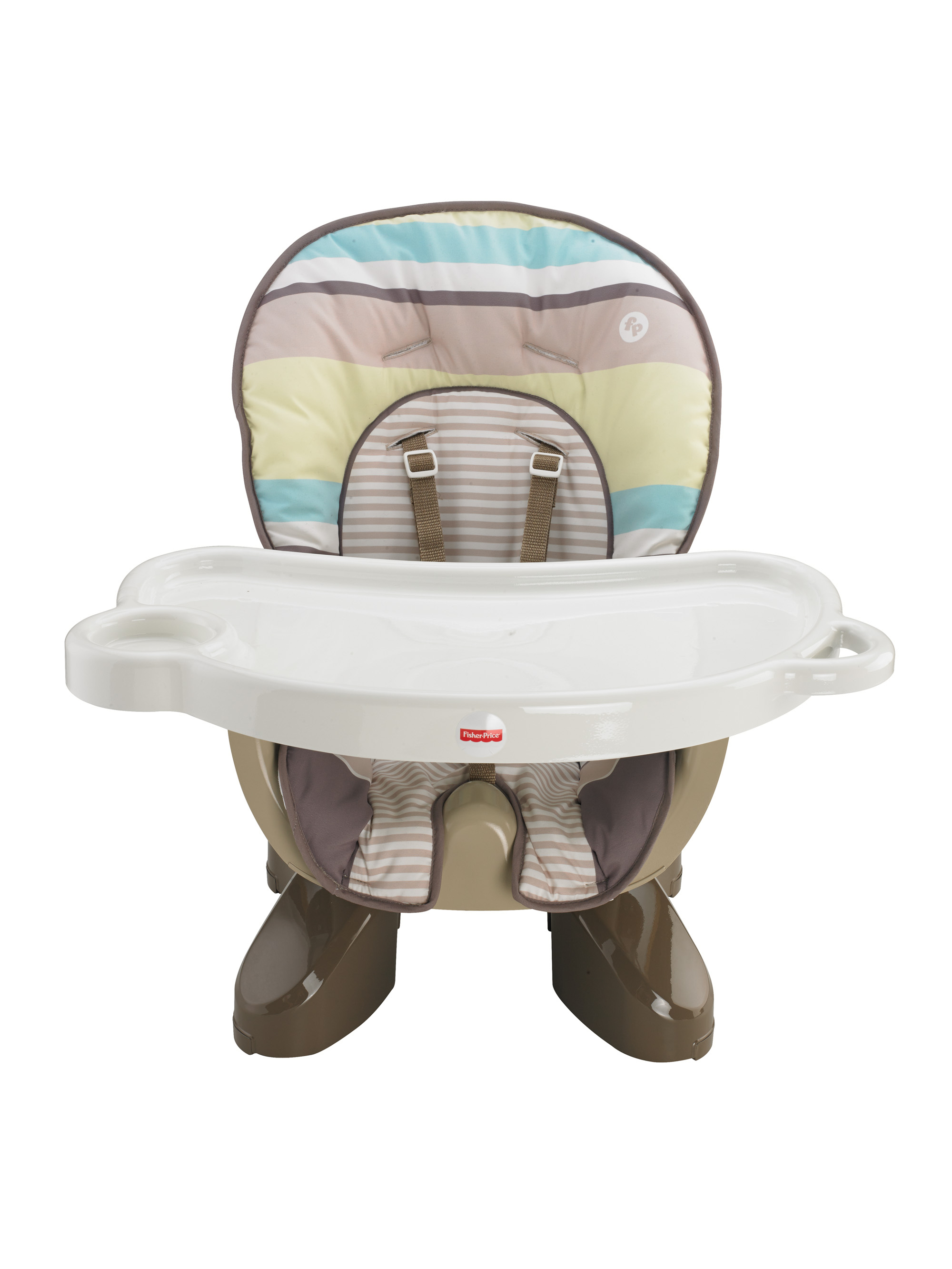 fisher price high chair seat best buy gaming spacesaver green stripes walmart com
