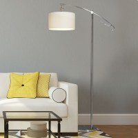 Large Arc Floor Lamp With Shade & Bulb Modern Contemporary