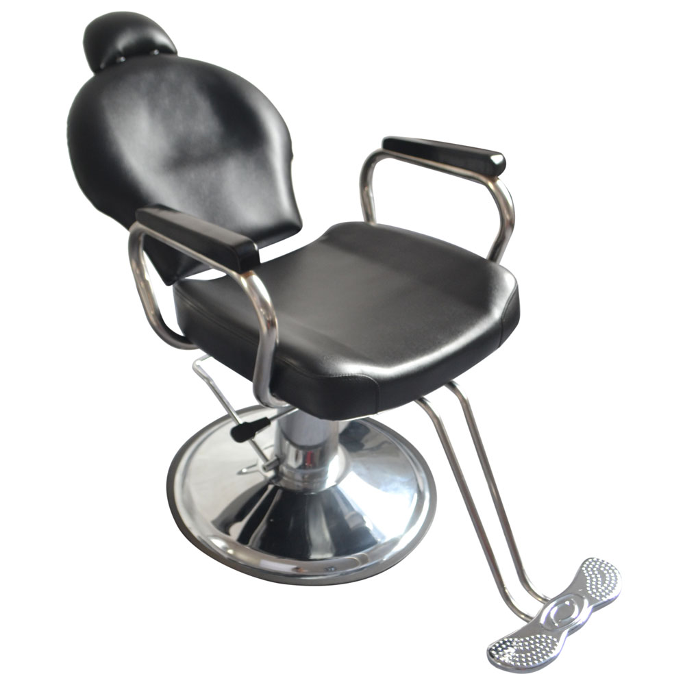 Reclining Makeup Chair Zimtown Reclining Hydraulic Barber Chair Heavy Duty Classic All Purpose Barbershop Black Chair With Headrest Salon Styling Beauty Spa Shampoo