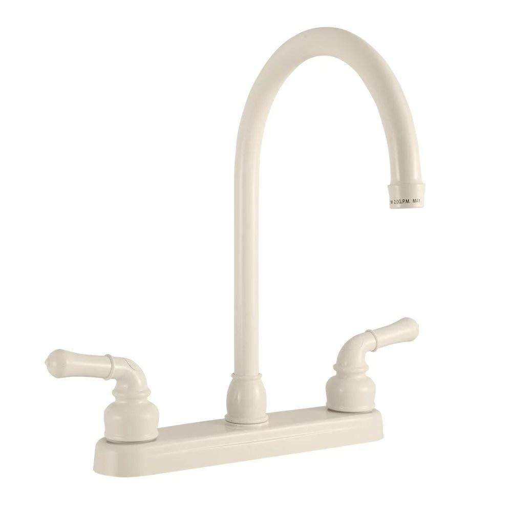 dura faucet j spout rv kitchen faucet bisque parchment walmart com