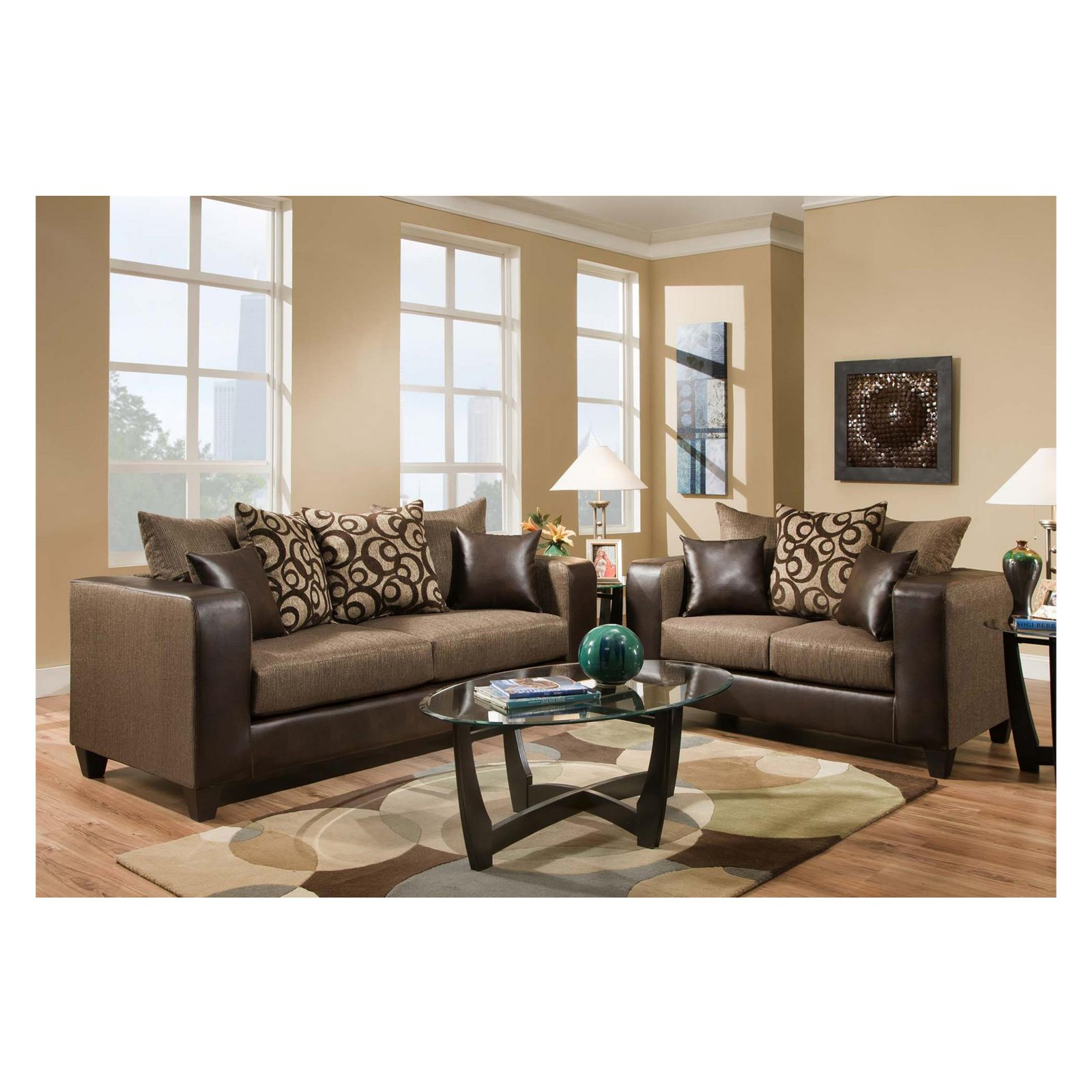 cheap sofa sets under 200 sofas scotland living room walmart com product image flash furniture riverstone object chenille loveseat and set